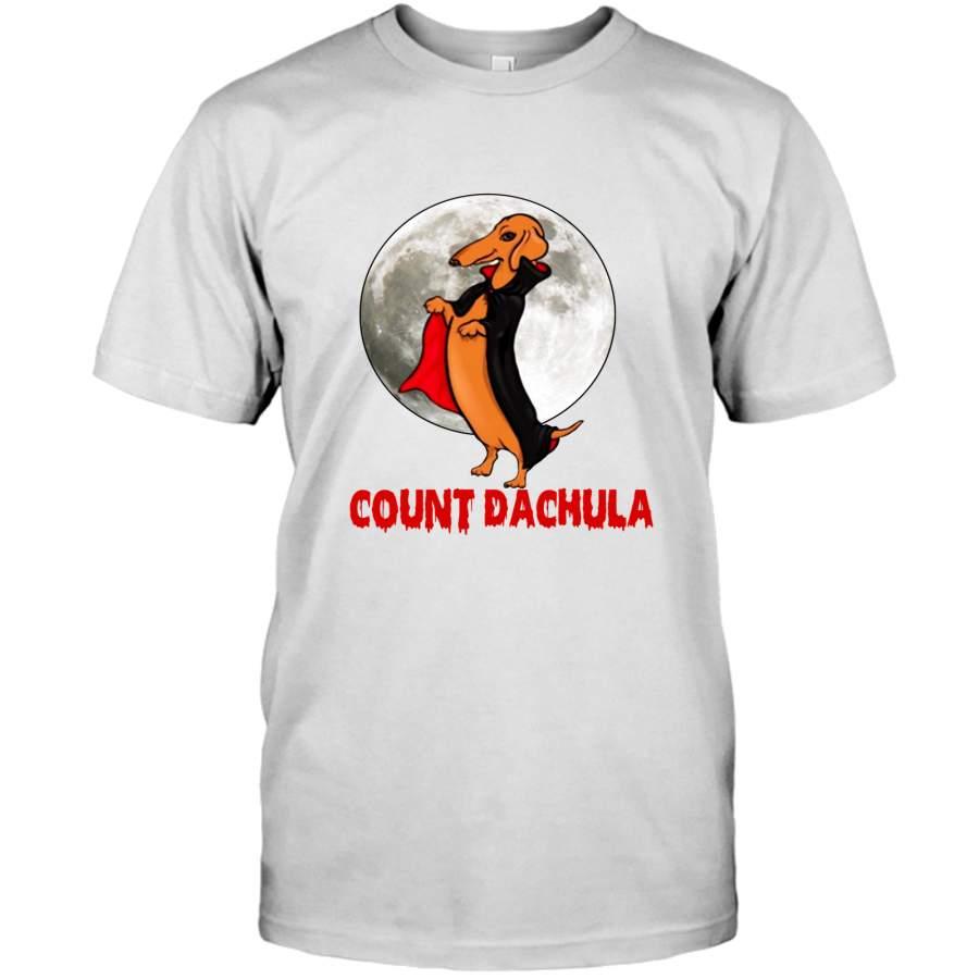Count Dachula Halloween Dachshund Dog Lover Gift Tee Shirt Hoodie