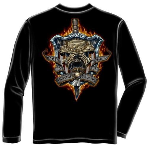 Always A Marine Mens Long Sleeve T-Shirt