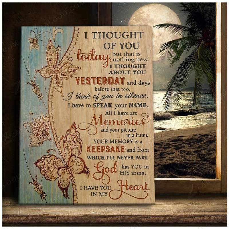 I thought of you today Butterfly  Poster Canvas 4432203032