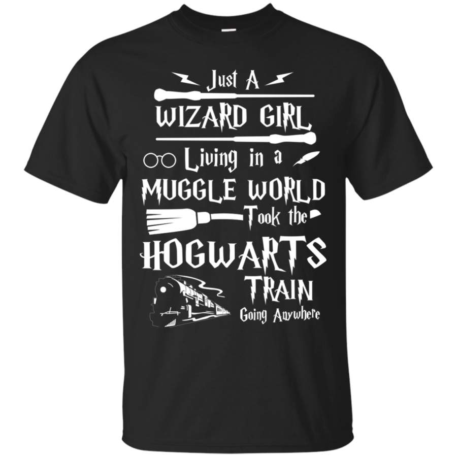 Just A Wizard Girl Living in a Muggle World Shirt, Hoodie, Sweater