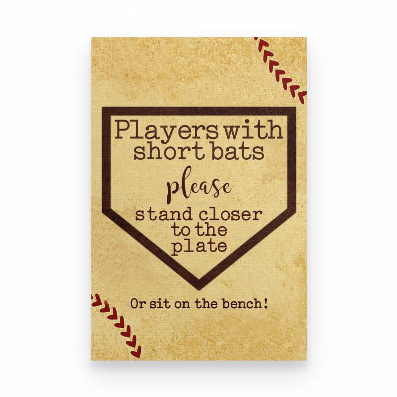 Baseball Player With Short Bats - Poster