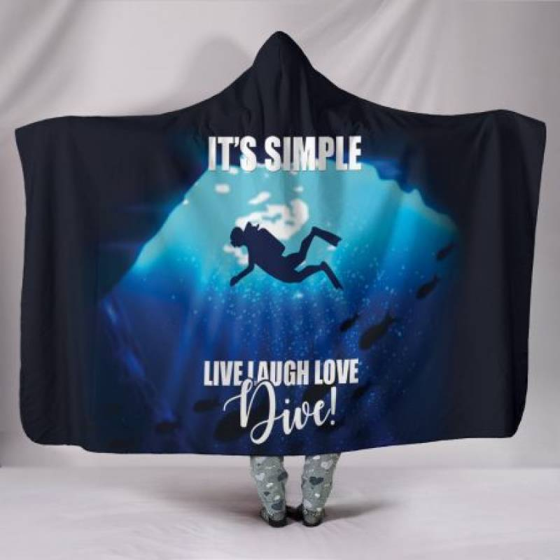 Custom Hoodie Blanket – Simply Diving