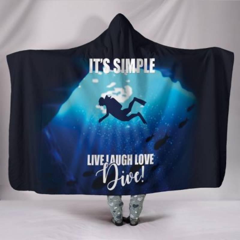 Custom Hoodie Blanket – Simply Diving