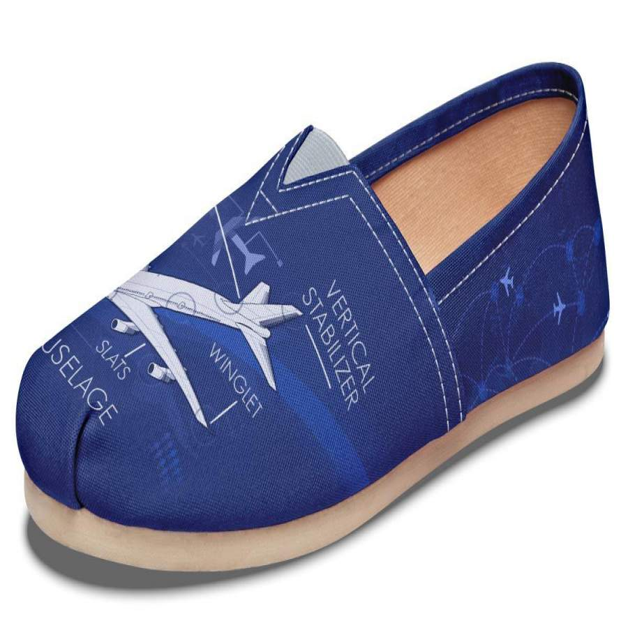 Airplane Diagram Casual Shoes-Clearance