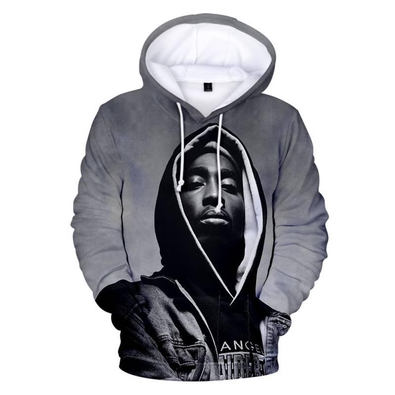 2PAC Hoodie Unisex 3D Printed Hip Hop Sweatshirt
