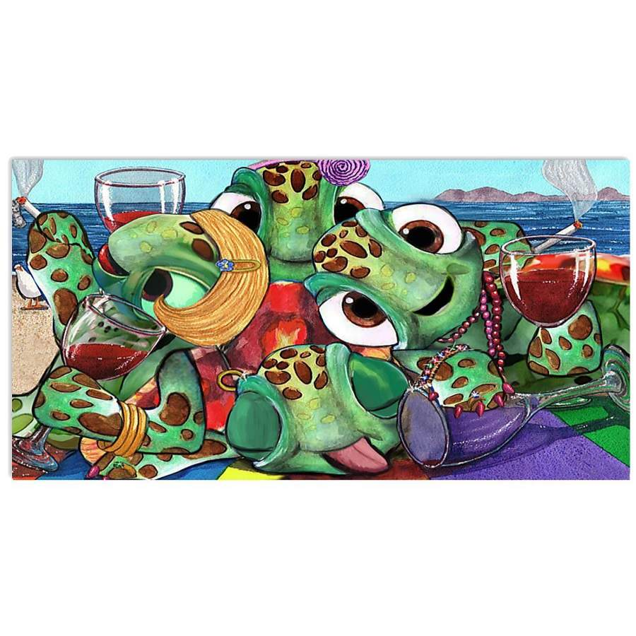 Sea Turtles Party Summer Poster Turtle Birthday