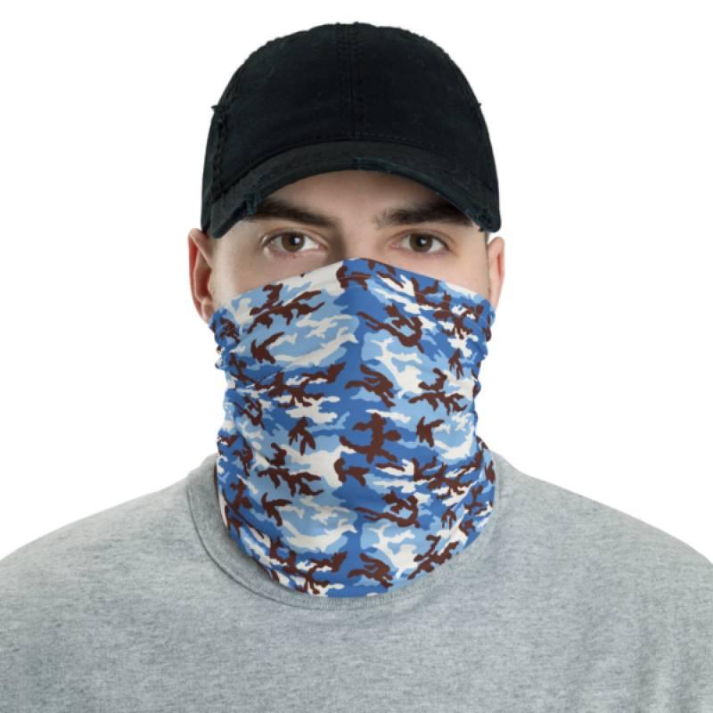 Cloudy Sky Overhead Camo Neck Gaiter & Face Mask ✓ Washable ✓ Reusable ✓ Unisex