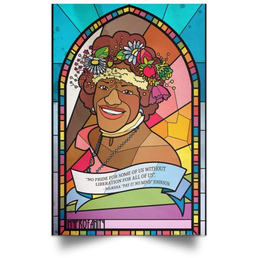 Marsha P Johnson Pay It On Mind Poster Black Pride