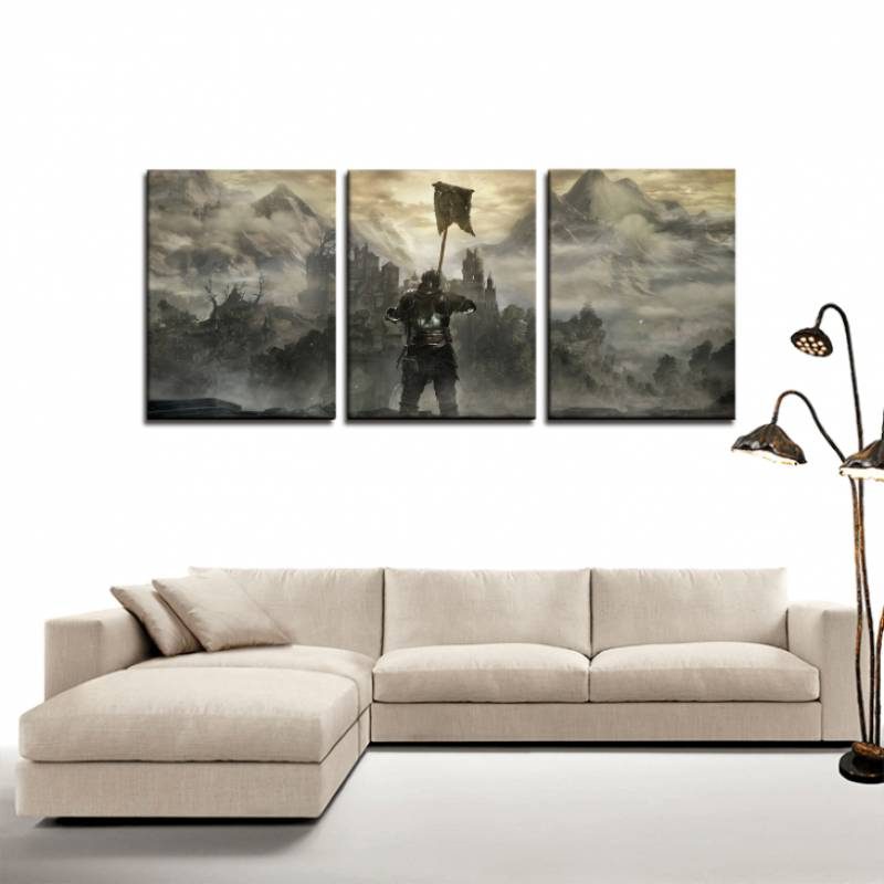 Dark Souls Game Poster Cool 3pc Canvas Wall Art Decor