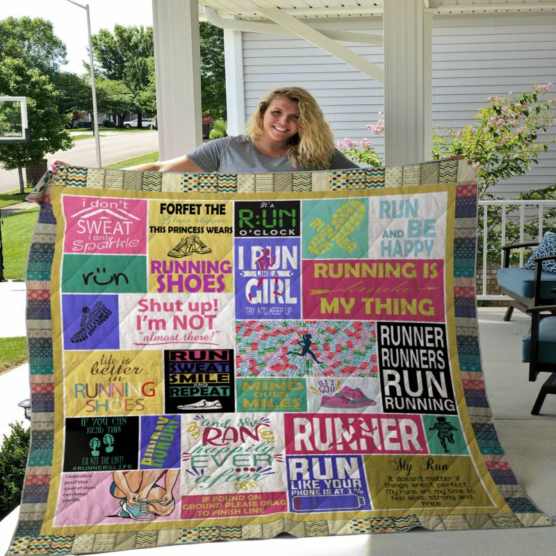 Life Is Better In Running Shoes CLT170637 Quilt Blanket
