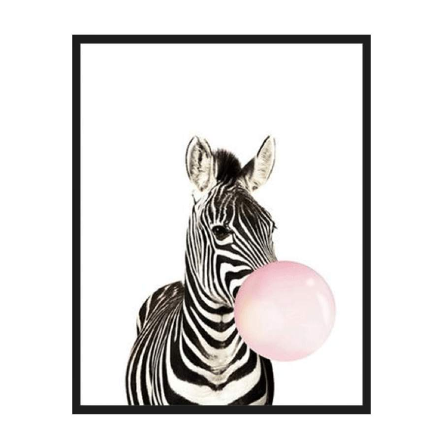 Animals With Balloon Poster
