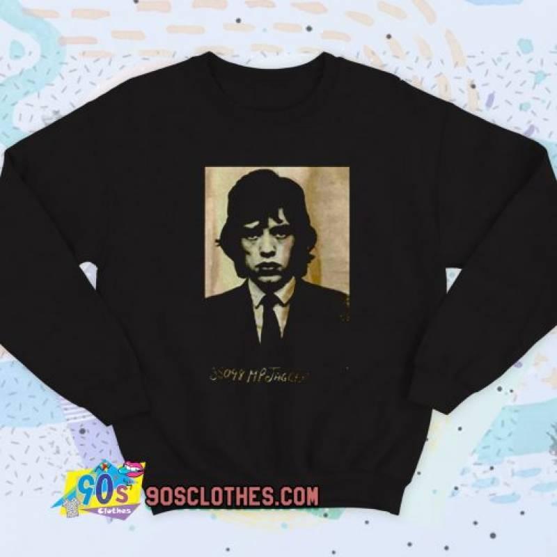Mick Jagger Mugshot Vintage Sweatshirt