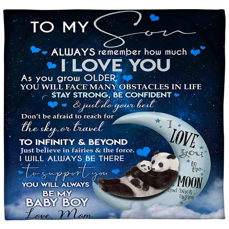 Panda To my son love mom blanket – Hothot 030620