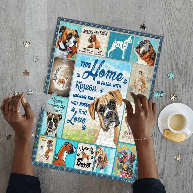 The Artsyhomes [Jigsaw Puzzles] Animals, Dogs, Boxer Lover Jigsaw Puzzle 23052020