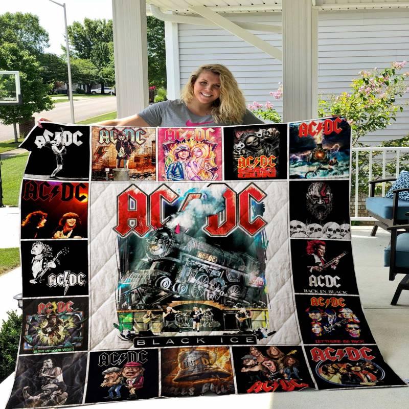 AC/DC Tshirt Quilt Blanket 02