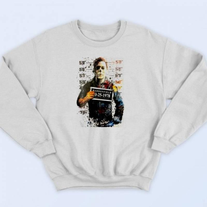 Michael Myers Halloween Mug Shot Sweatshirt