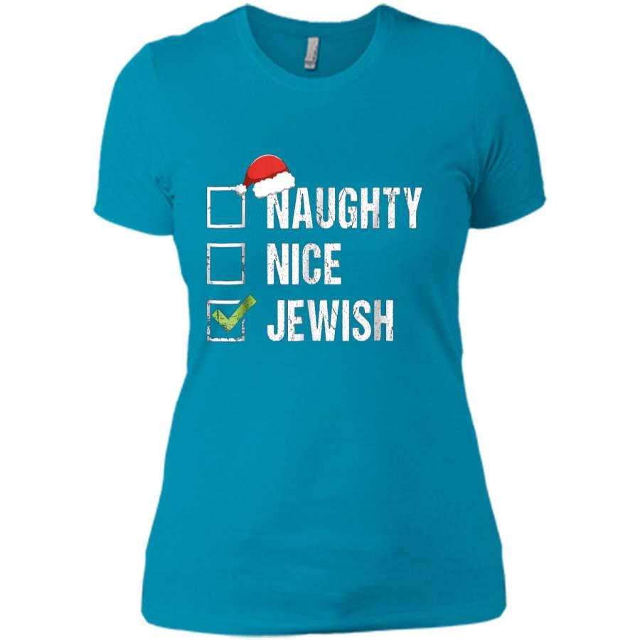 Naughty Nice Jewish Santa Jew Christmas Gift Hanukkah Next ...