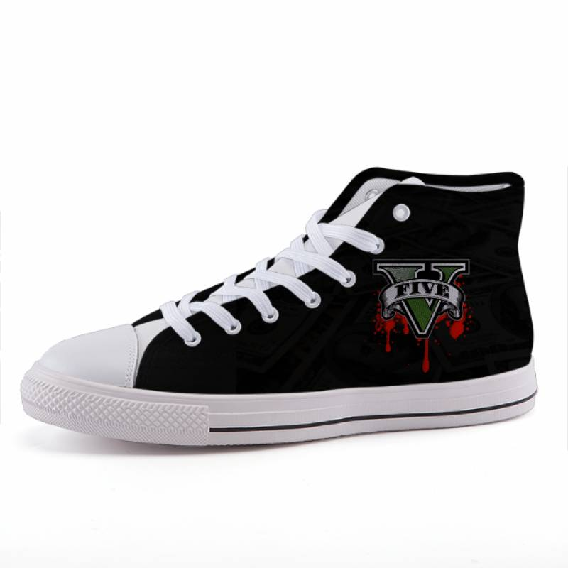 Grand Theft Auto Logo Gaming Style Dope Sneaker Shoes