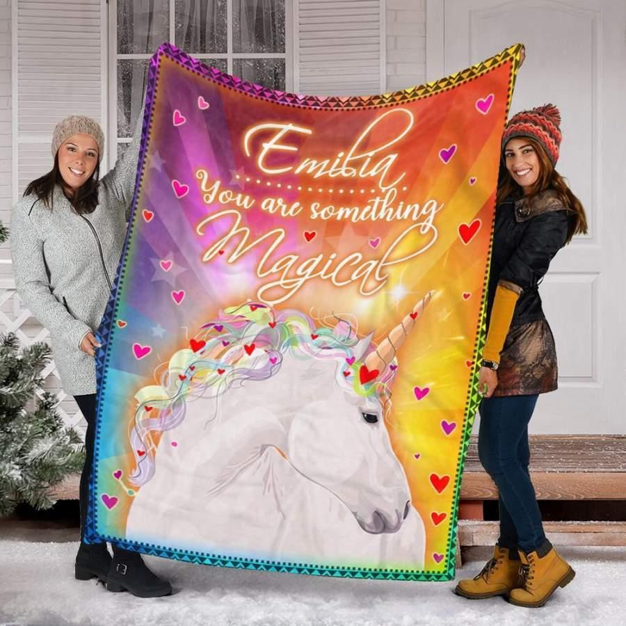 Personalized Unicorn Gifts – Unicorn Custom Name Blankets – Fleece Blanket