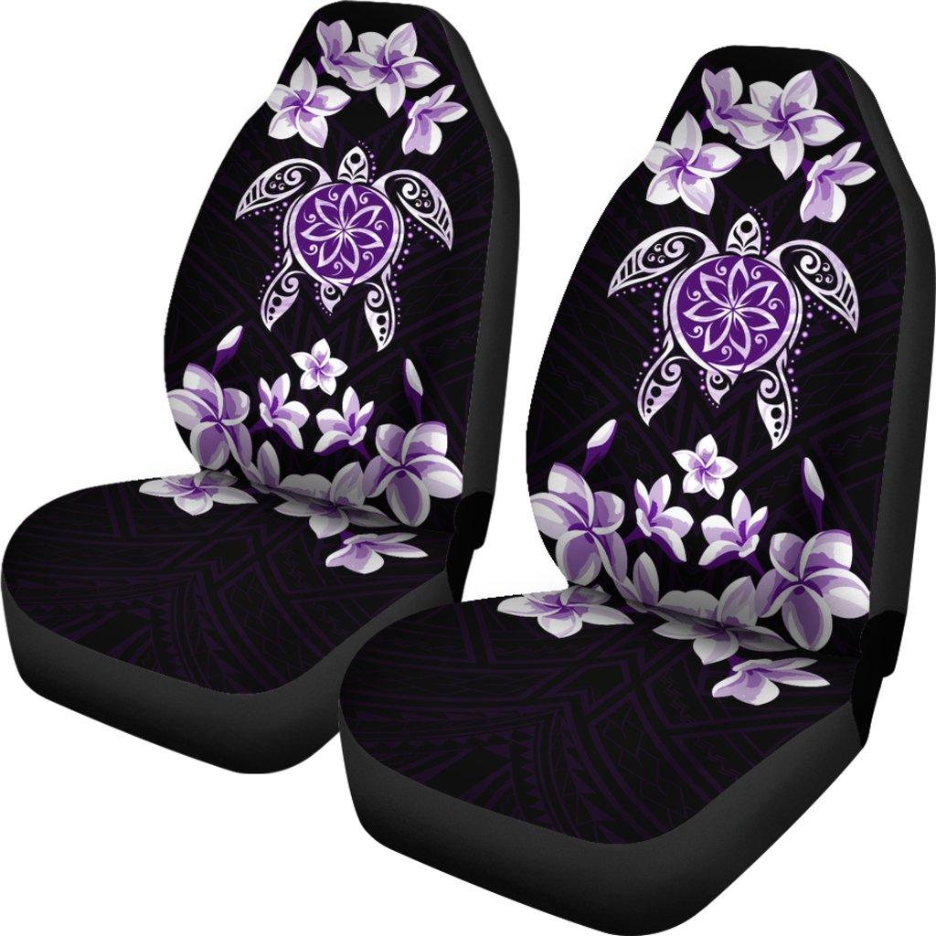 �Alohawaii Car Seat Covers – Hawaiian Violet Turtle Plumeria – AH J0