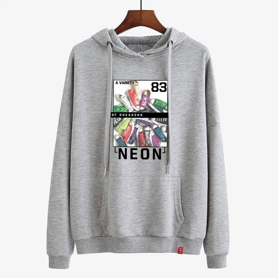 Running Lightweight athletic hoodie for Girl Shoes Print hoodie ideal present