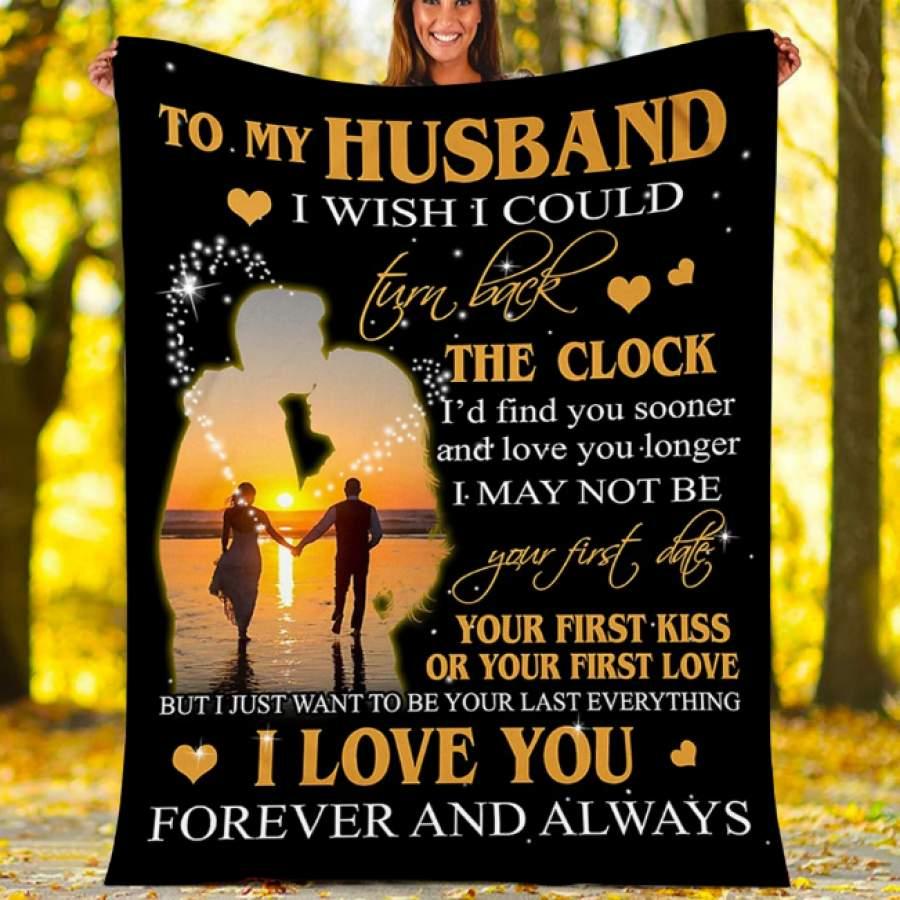 CUSTOM BLANKET TO MY HUNSBAND BLANKET - PERFECT GIFT FOR HUSBAND - FLEECE BLANKET