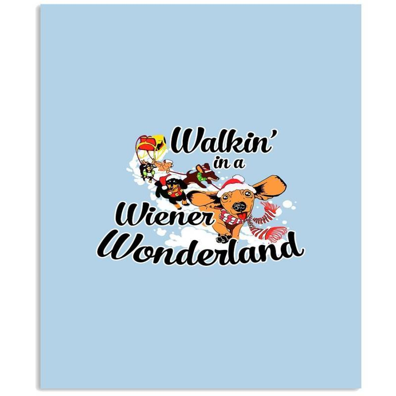 Dachshund Walkin Shirt Vertical Poster