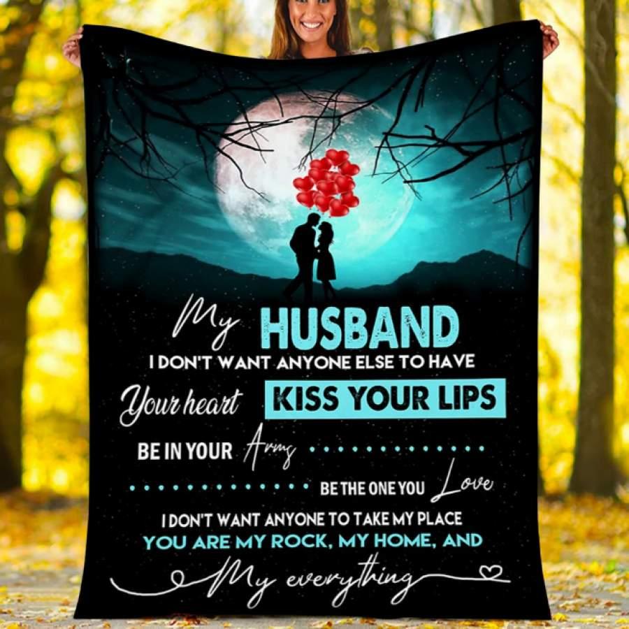 CUSTOM BLANKET TO MY HUSBAND - GIFT FOR HUSBAND - FLEECE BLANKET