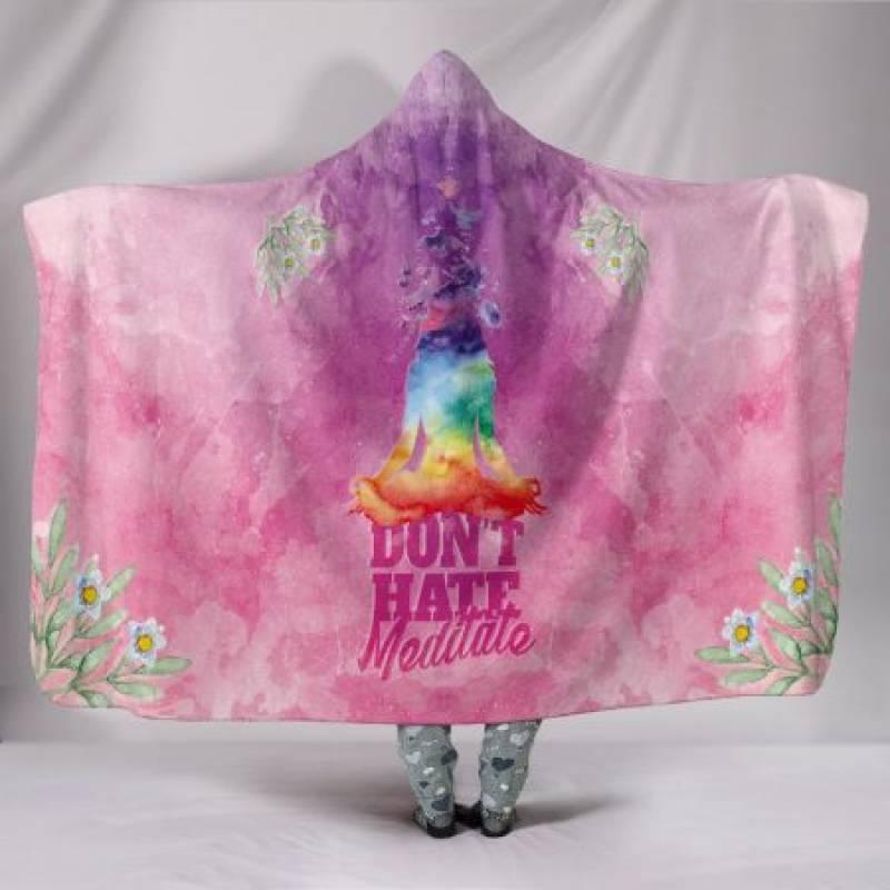 Custom Hoodie Blanket – Meditate Now