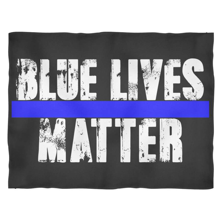 Blue Lives Matter Fleece Blanket