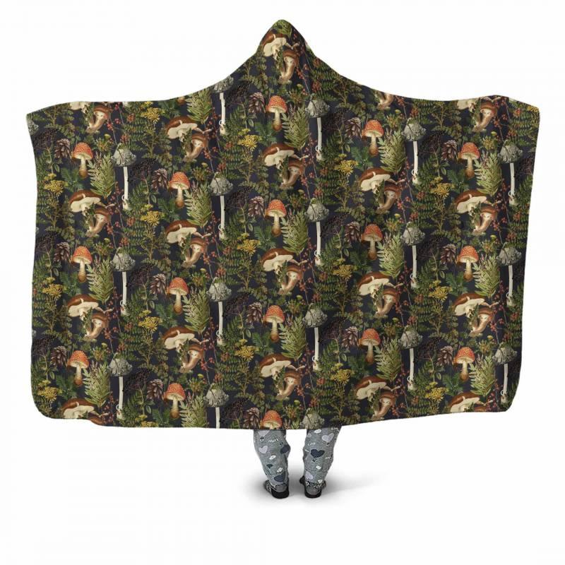 Forest Mushroom Hooded Blanket 3913