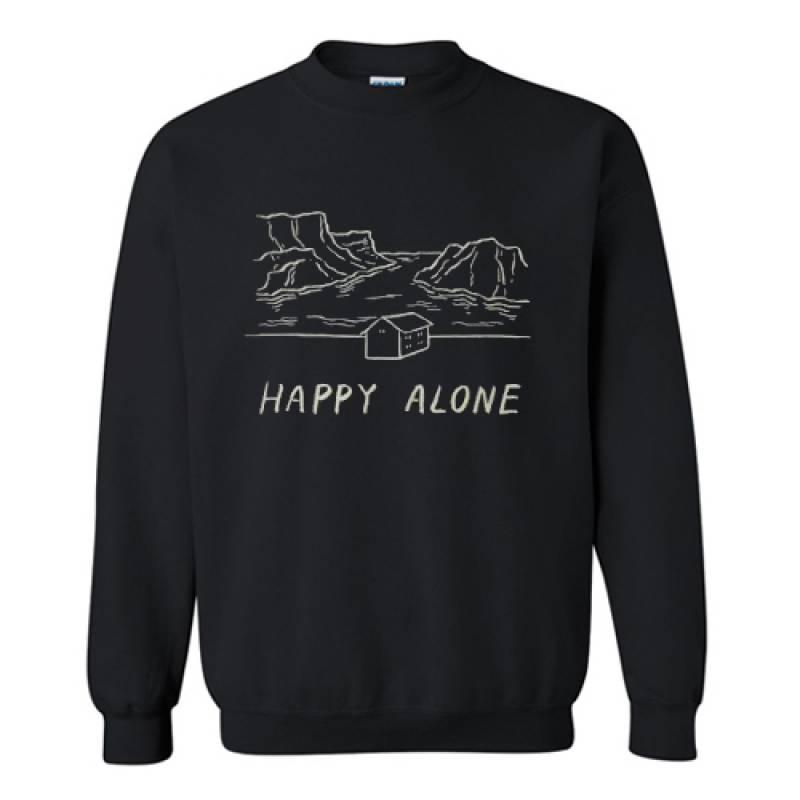 Happy alone Sweatshirt AI