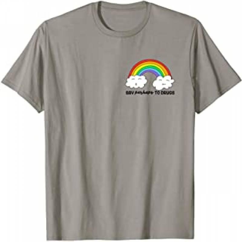 Say Perhaps To Drugs Rainbow Pocket Cannabis Marijuana T-Shirt