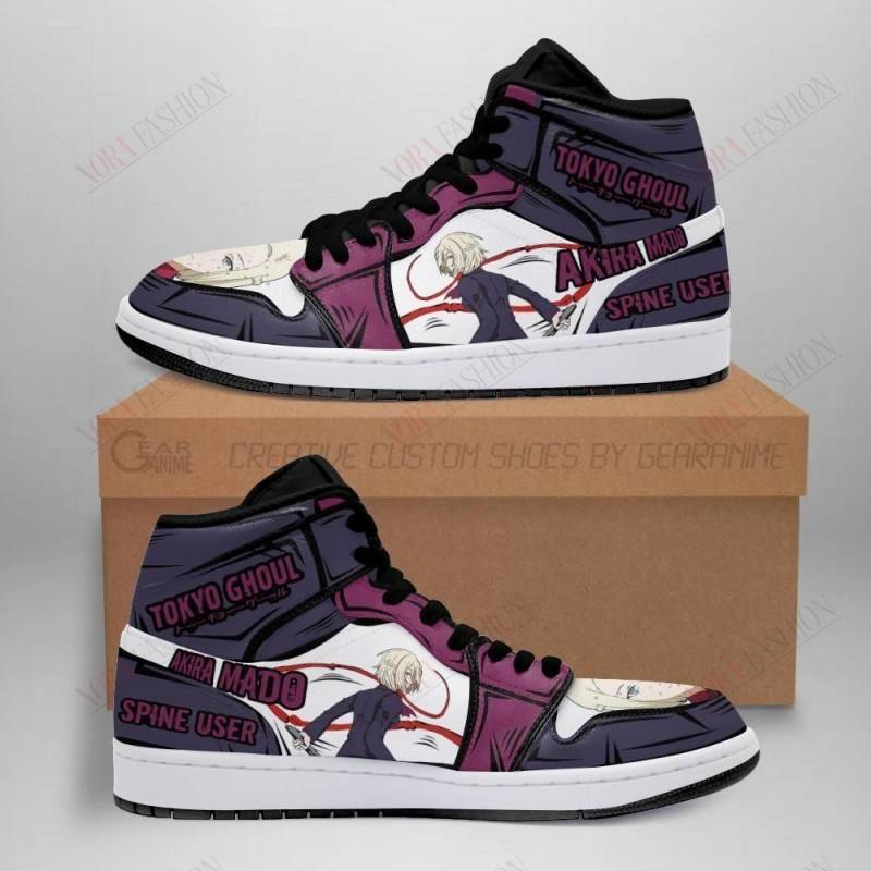 Akira Mado Shoes Boots Custom Tokyo Ghoul Sneakers Anime MN05