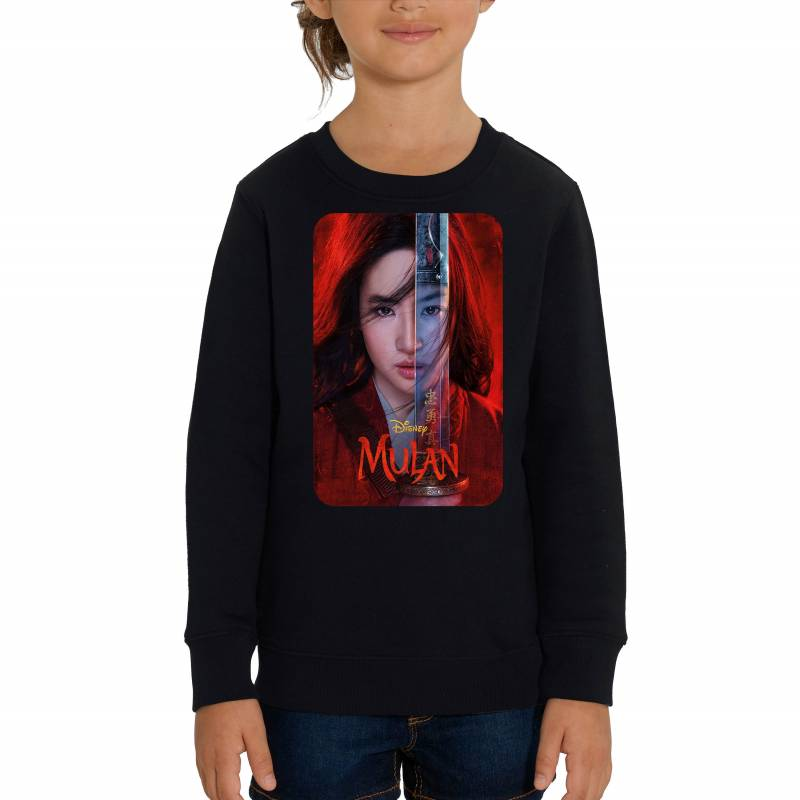 Walt Disney's Mulan Official 2020 Film Poster Children's Unisex Black Sweatshirt