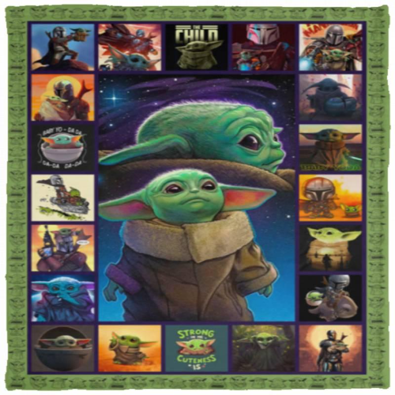 Baby Yoda blanket, quilt