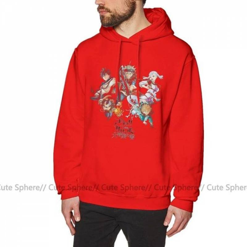 Black Clover Asta Yuno Noelle and Others Pullover Hoodie