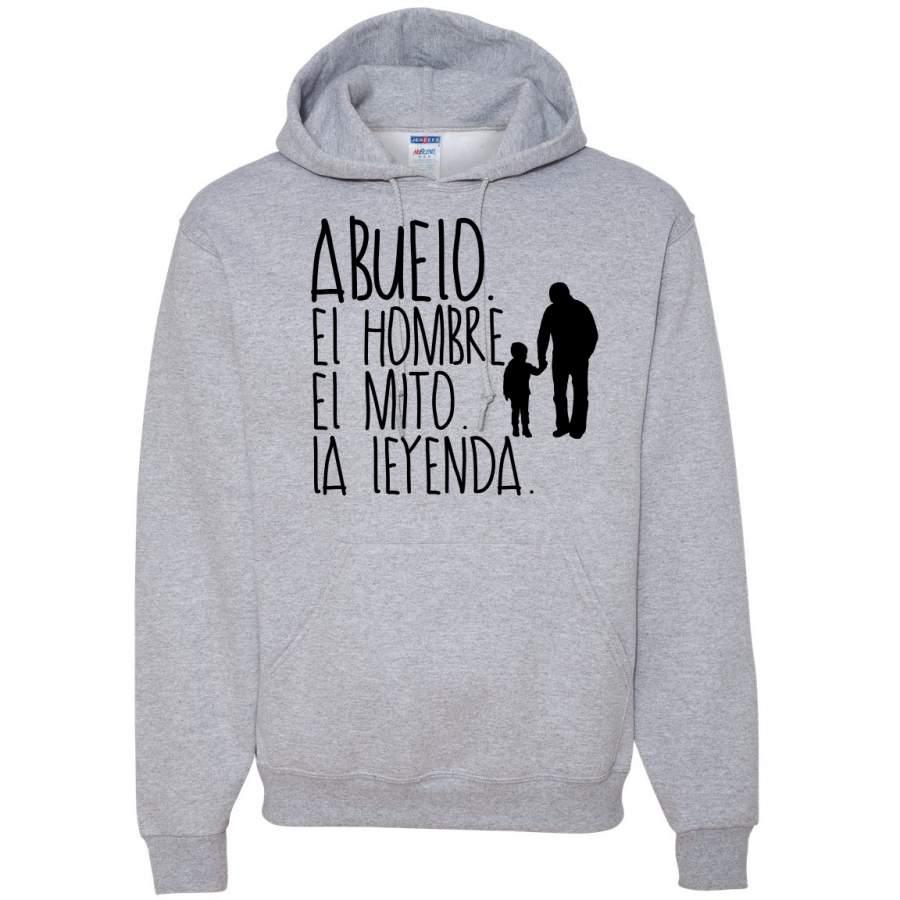 Abuelo El Hombre El Mito La Leyenda Grandfather Spanish Shirts En Espanol Hooded Sweatshirt Graphic Hoodie