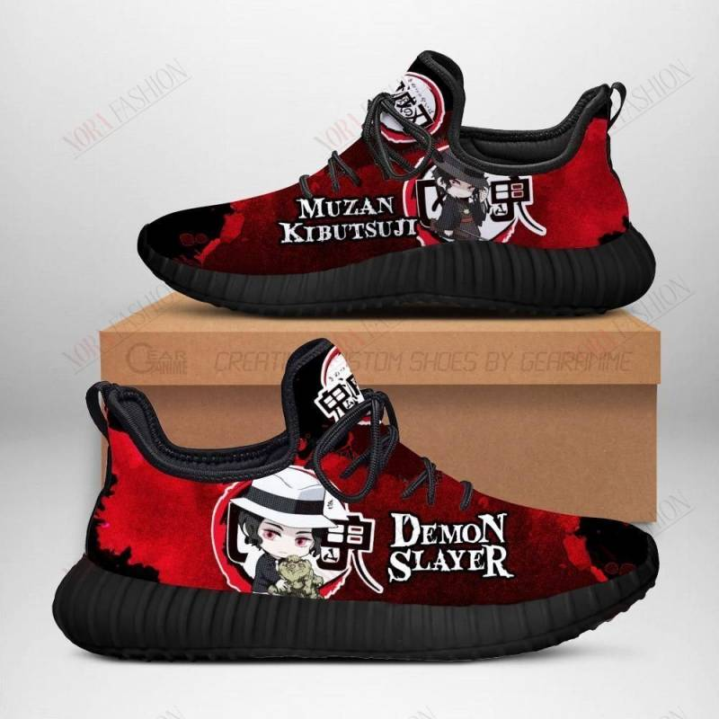 Lord Muzan Kibutsuji Shoes Sporty Demon Slayer Anime Sneakers Fan Gift Idea