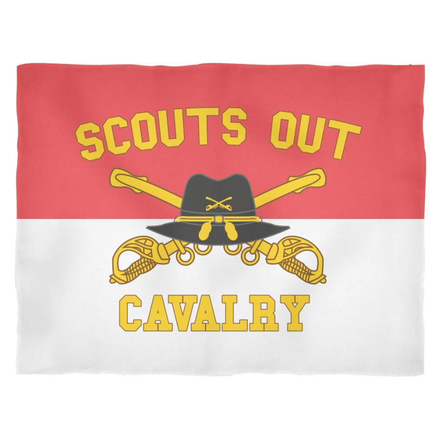Cavalry Scouts Out Fleece Blanket