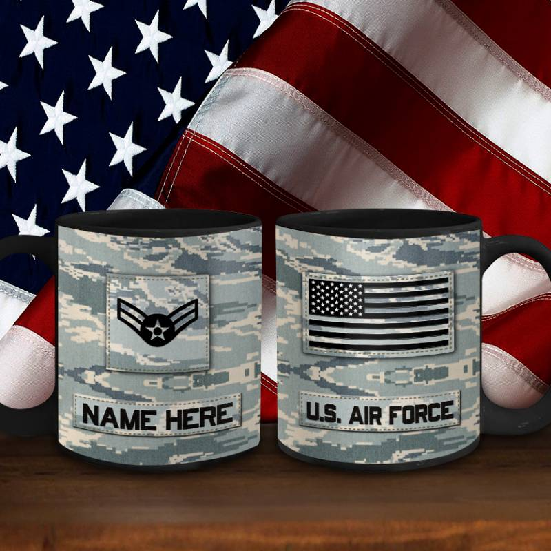 Air Force Mug Personalized Name And Rank US Air Force