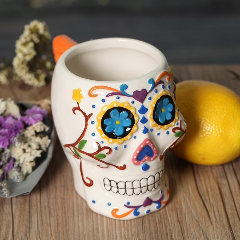 3d skull mug cute ceramic tea water coffee milk cup