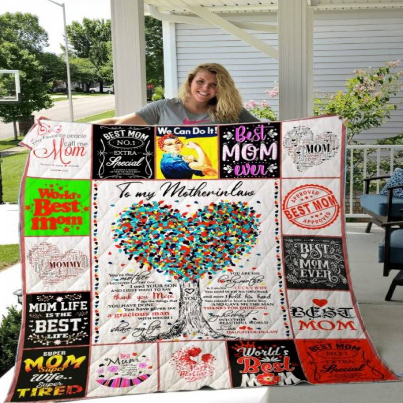 For Mom Quilt Blanket