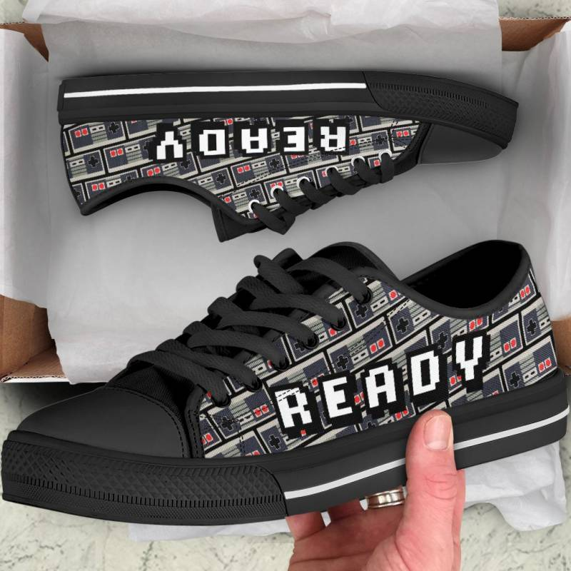 Ligerking™ Snes Gamer Black  Low Top Shoes HD02710