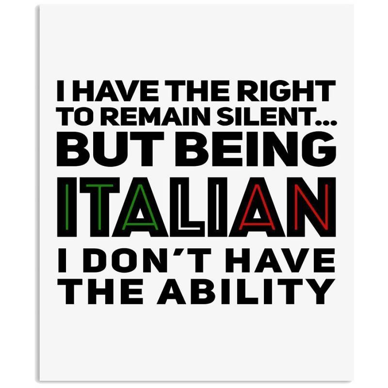 Remain Silent Italian Ability Gift For Italian Quote Mug Vertical Poster
