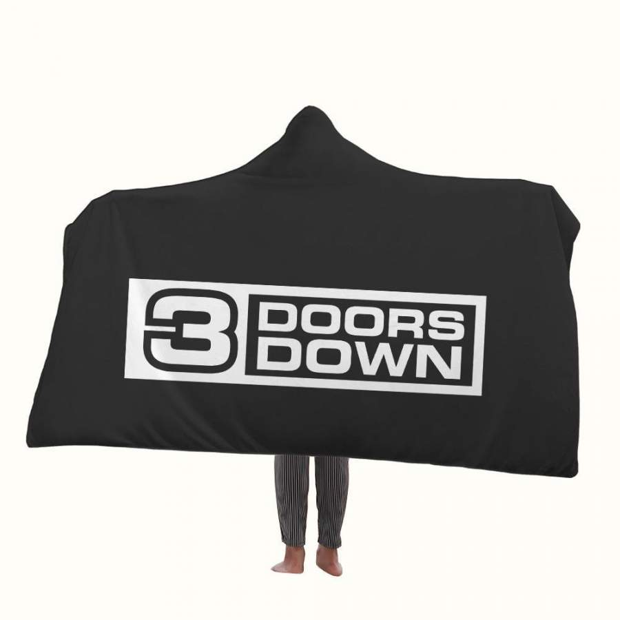 3 Doors Down Logo Hooded Blanket