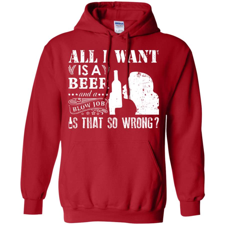 Beer beef and blow job
