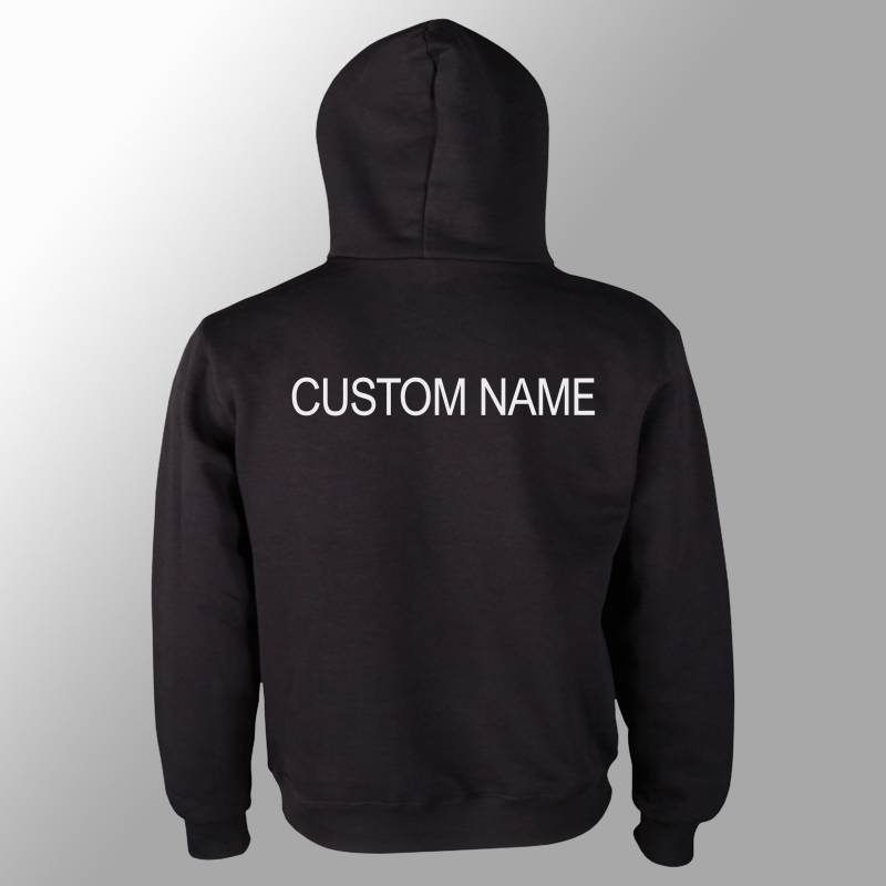 Add a custom name on the back to any of our kids hoodie or t shirt designs, (this is only to add name onto any other listing)
