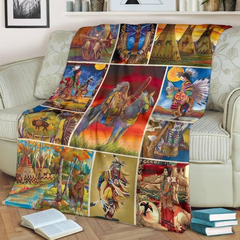 Native American Blanket - Chiefs Piece Jigsaw Puzzle - BN01