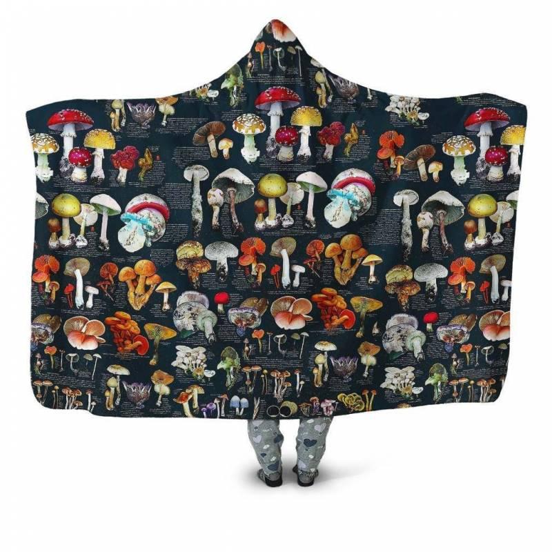 Fungi's Mushroom Hooded Blanket 3901